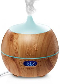 ArtNaturals Essential Oil Diffuser and Humidifier with Bluetooth Speaker Clock and Alarm – ...