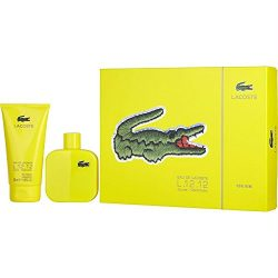 Lacoste 2 Piece Jaune Optimistic Eau de Toilette Spray Gift Set for Men