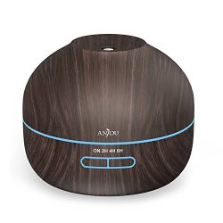 Anjou 350 ml Essential Oil Diffuser Wood Grain Aromatherapy Diffuser Ultra-Quiet Operation (BPA- ...