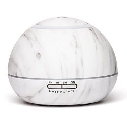 Hathaspace Marble Essential Oil Aroma Diffuser, 300ml Aromatherapy Fragrance Diffuser & Ultr ...