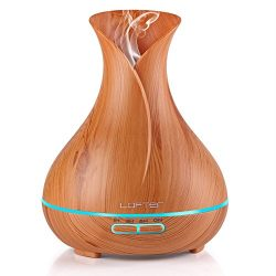LOFTER 300ml Essential Oil Diffuser, Wood Grain Cool Mist Aromatherapy Humidifier Ultrasonic Aro ...