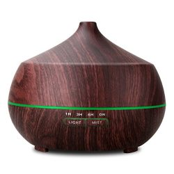 TONERONE 400ml Ultrasonic Aroma Essential Oil Diffuser Cool Mist Air Humidifier 4 Timers Setting ...