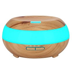 Komeito 300ml Aroma Essential Oil Diffuser,Wood Grain Aromatherapy Diffuser Ultrasonic Cool Mist ...