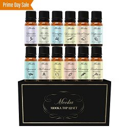 Essential Oils, Mooka Top 12 100% Pure Therapeutic Grade Aromatherapy Essential Oil Set Starter  ...