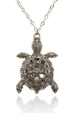 Large Turtle Necklace Silver Tone Handmade Aromatherapy Essential Oil Diffuser Locket Pendant