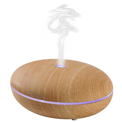 Quamii Aromatherapy Essential Oil Diffuser – 400ml Ultrasonic Cool Mist Aroma Humidifier w ...