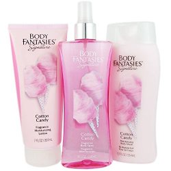 Body Fantasies Signature Cotton Candy for Women, 3 Pcs Gift Set