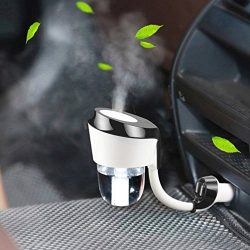 Vyaime Car Diffuser Essential Oil Aromatherapy Diffusers Dual USB Charger Adapter, Ultrasonic Hu ...