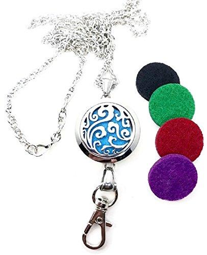 Pizazz Studios 32″ Wave Aromatherapy Oil Perfume ID Badge Holder Lanyard Necklace
