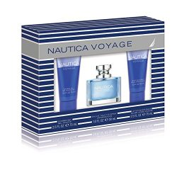 Nautica Voyage 3 Piece Gift Set (1.0 Eau De Toilette Plus 2.5 Shower Gel Plus 2.5 Ounce Aftersha ...