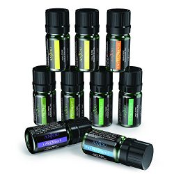 Anjou Aromatherapy Top 9 Essential Oils Set, 100% Pure Therapeutic Grade, Sampler Gift Kit, 9 x  ...