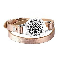 Gyoume Bangle Hand Chain Women Essential Oil Diffuser Bracelet Stainless Steel Aromatherapy Lock ...