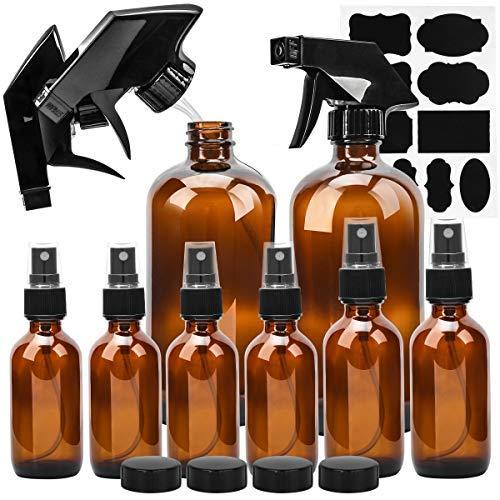 Glass Spray Bottle, ESARORA Amber Glass Spray Bottle Set For Essential Oils – Cleaning Pro ...