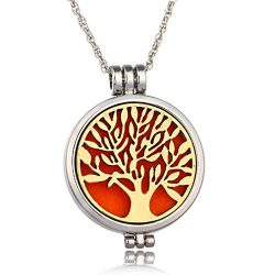 UNKE Tree of Life Essential Oil Diffuser Necklace – Aromatherapy Jewelry