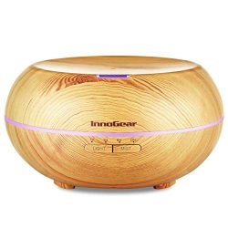 InnoGear Upgraded 500ML Wood Grain Aromatherapy Essential Oil Diffuser Ultrasonic Cool Mist Diff ...