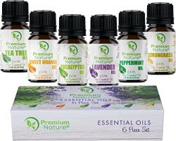 Aromatherapy Essential Oils Gift Set – Pure Natural Essential Oil for Diffusers Humidifier ...